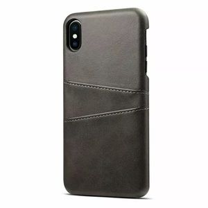 Black iPhone Leather Wallet Case